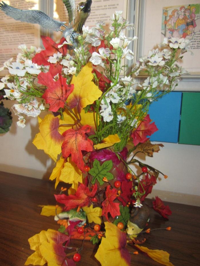 Осенний букет своими руками для детского сада  762